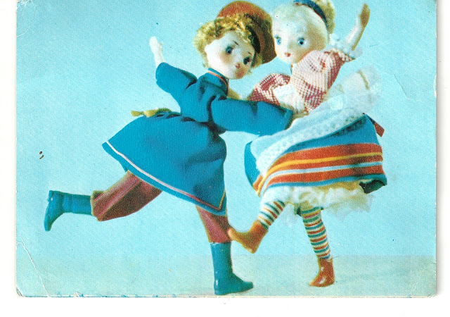 Latvian puppet postcards