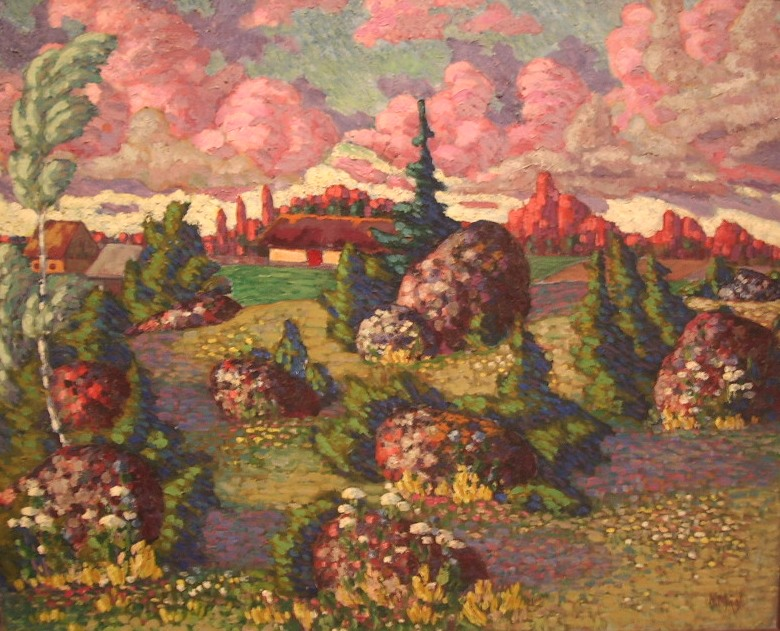 Konrad_Mägi_-_Maastik_kividega_1913-1914